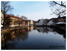 Uppsala: The Fyris River by igelkotten