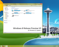 Windows 8 Release Preview VS for Windows 8.1.1 by Misaki2009
