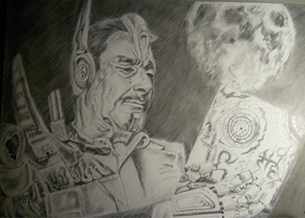 Peter Cullen and Optimus Prime by 7Frozone7