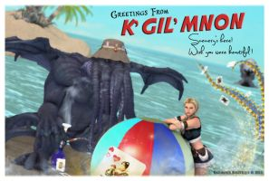 Greetings from Kgilmnon by karibous-boutique