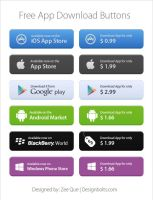 Free App Store Download Buttons by Designbolts