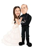 Caricature Mariel and Andres by NataliaBenavides