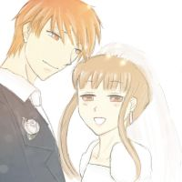 Kyo and Tohru by citizenxerased