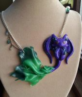 Toxic swamp toothless, with chain. by dobharachu