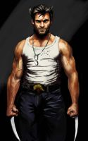 Hugh Jackman as Wolverine by N8watcher