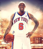 LeBron James Knicks by imanillus10n