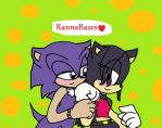 Adam and Selene Hedgehog Happy Late Valentine's by victoriame
