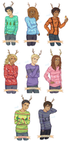 The Seven Reindeer + Nico by Rhaylee