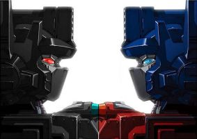 Optimus meets Nemesis Prime by darknight014