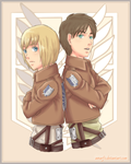 Armin and Eren by Amarfis