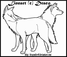 Wolves Lineart by DracoFeathers