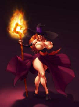 Dragon's Crown sorceress by sterna