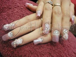 nail art for wedding by Jutamart