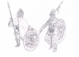 Roman and Persian Warriors by Hashashin619