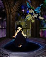 Disney fairies in a fantasy world digital coloring by charlottegreen