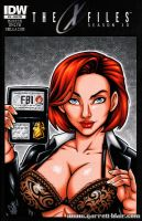 Busty Dana Scully sketch cover by gb2k