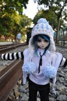 Walking on the rail track by hmuraki