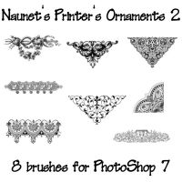 Naunet's Printers Ornaments 2 by sknaunet