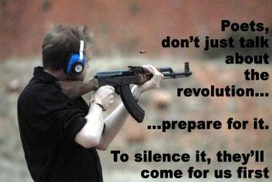 Arm Poets for the Revolution by foxthepoet