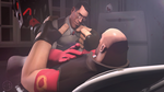 SFM Poster: The Heavy and Medic by PatrickJr