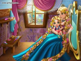 Rapunzel and hers baby together by kari5