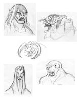 LOTR face sketches by BrianMainolfi