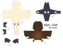 Paper Craft: Dr.Who 9th Doctor by GeekyKitten64