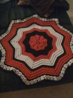Circular Ripple Afghan by CureMinorWounds