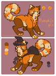 Pumpkin pie - Character for sale by FourDirtyPaws