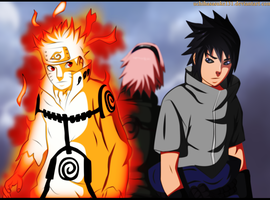 Naruto 633 Coloring - Team 7 by Gray-Dous
