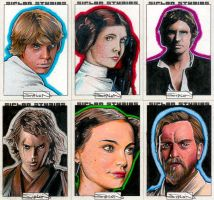 Star Wars Sketch Cards by RandySiplon