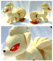 Comm- Ninetales Plush by FollyLolly