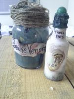Apothecary Jars Set 3 by cyndisilcott
