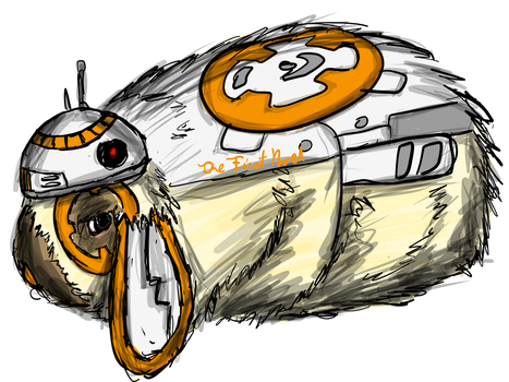 Rabbit Drawings- BB-8 by The-First-Noel