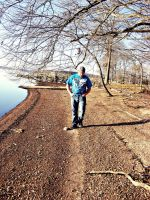 Dirty Lake Shore Walking by JeremyC-Photography