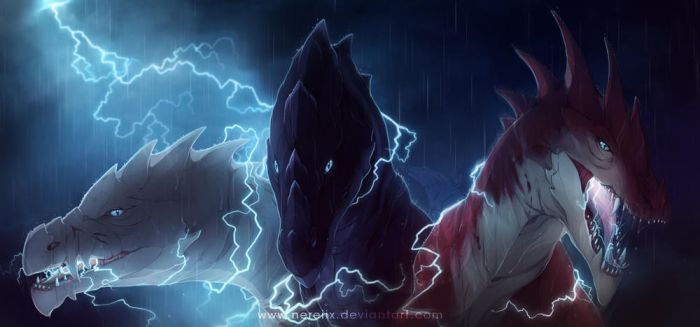 Children of the storm by Nereiix