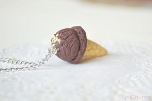 Chocolate Ice cream Necklace by Unicharms