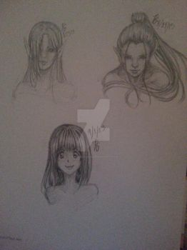 Variety of faces - Sketches by rachiesroom