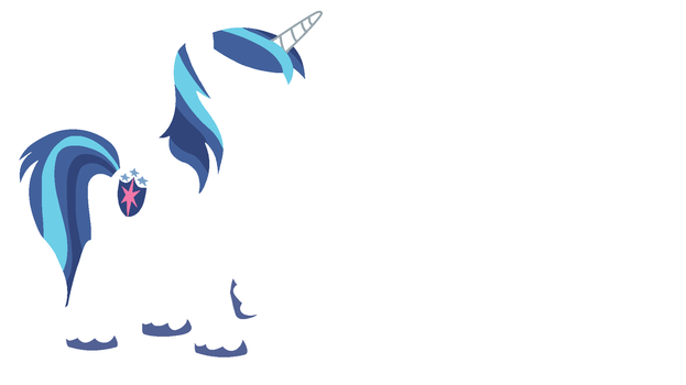 Shining Armor Minimalistic Wallpaper (Left Align) by Kitana-Coldfire