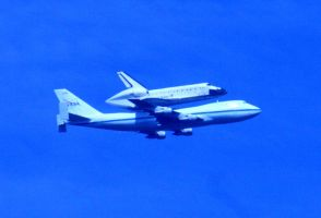 Space Shuttle over Hollywood 1 by creativesnatcher69