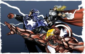Avengers Coloured by NineteenPSG