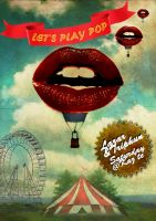 Let's play PoP party poster by Laazar