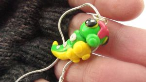 Caterpie Necklace by naga-kkw87