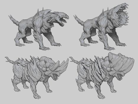Commission: Infected Beasts Concept by TitikAwalCreative