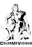 Thor [UNCOLORED] by ColorMeVicious