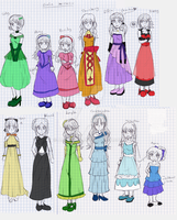 Gala Dresses - colored sketch by adricarra