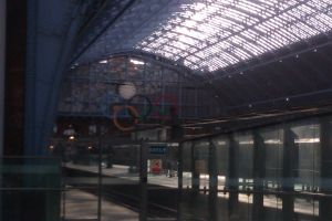 London St Pancras Olympic Rings by CooroSnowFox