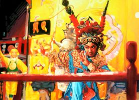 Chinese Culture Opera Painting by OCMay