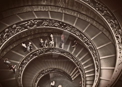 Vatican stairs by morsiela