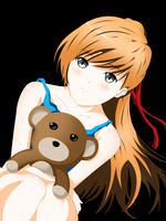 Anime Girl With Teddy by RegenaldOpura